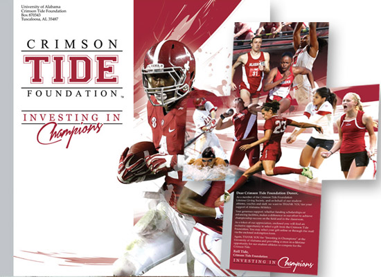 University of Alabama Crimson Tide Foundataion Donor Loyalty Packages